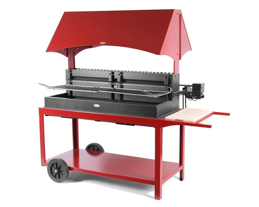 M choui barbecue acier sur chariot le marquier - Grille pour barbecue sur mesure en acier inox ...